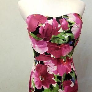 Donna Ricco floral tube top dress (K29)